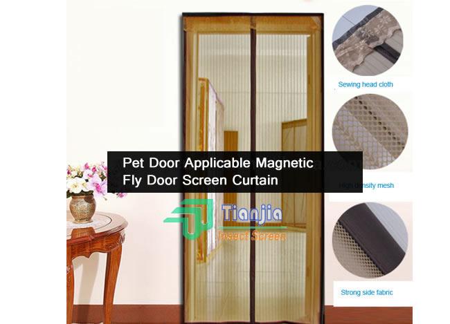 Pet Door Screen Curtains Magnetic Fly Door Screen
