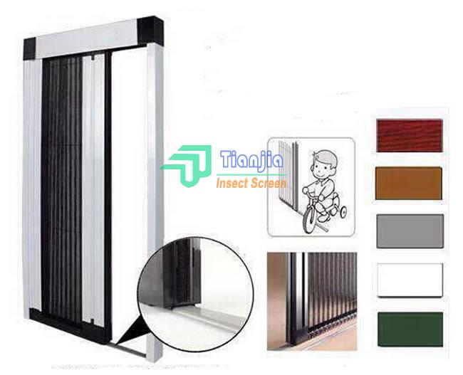 Pleated Plisse Mesh Cloth Doors