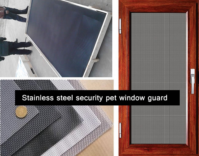 Plastic Coated Stainless Steel Pet Screen